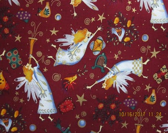 "RARE ANGEL FABRIC  Alexander Henry ""voices uplifted"" - 1995 - 1 Yard - K20"