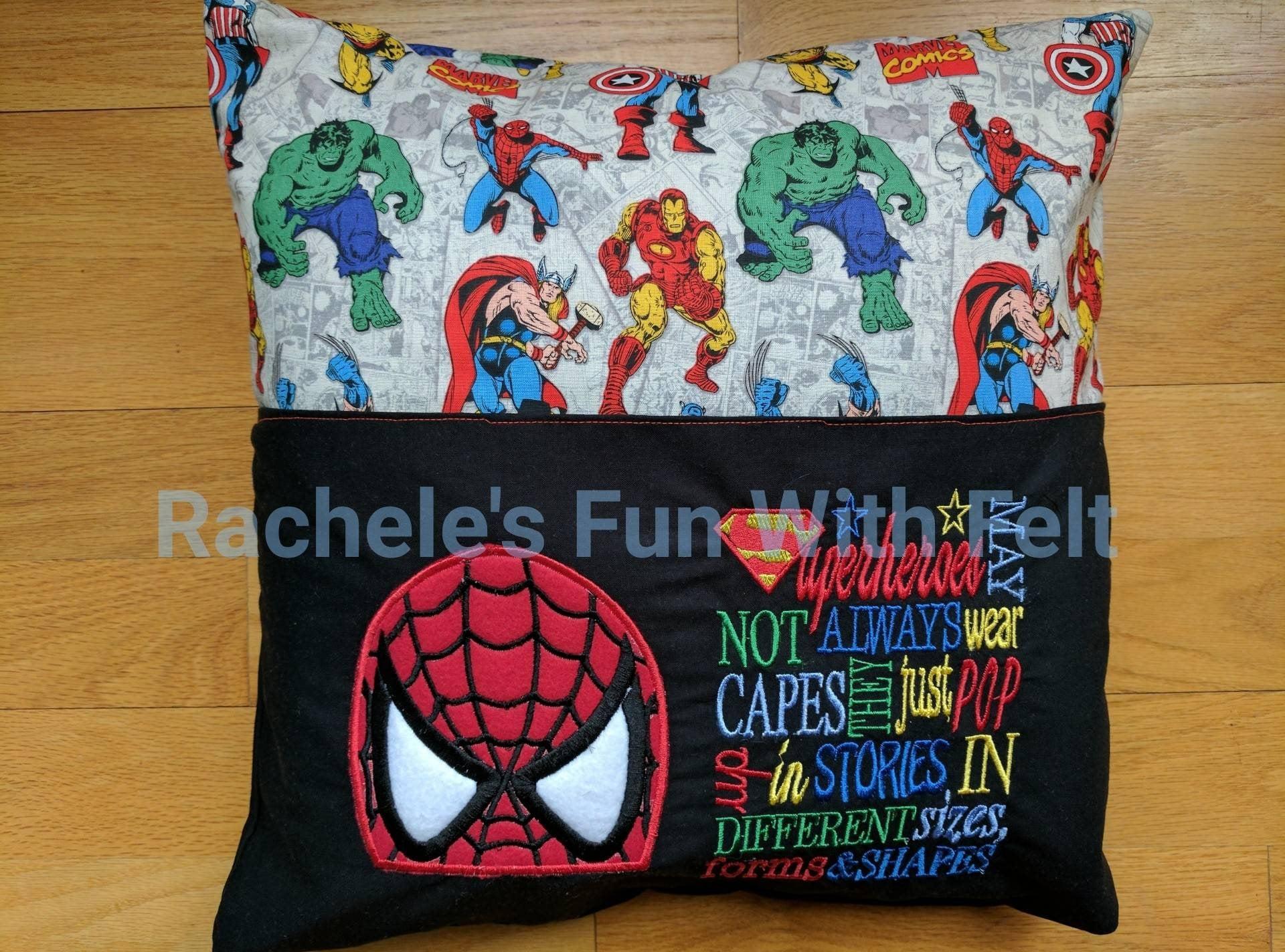 Spiderman Reading Pocket Pillow Cover Super Hero Pillow