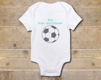 Soccer Baby Bodysuit, Soccer Baby Shirt, Soccer Fans, Sports Shirt, Baby Shower Gift, Baby Clothes, Shirt, New Baby Gift, Girl, Boy