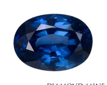 1.03 Carat Blue Sapphire, Oval cut Sapphire, Loose Sapphire Gemstone, Blue Gemstone, Non Heated Real Sapphire