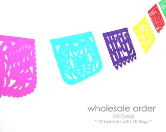10 papel picado banners wholesale order papel picado mexican banner rectangle bunting mexican party decor