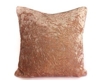 Blush Pink Velvet pillow cover 26x26, throw pillow 16x16 18x18 24x24 20x20 Velvet Euro sham, velvet pillow case, cushion, Light Pink Pillow