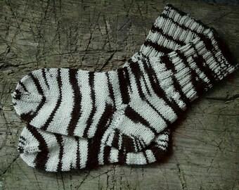 Socken für Frauen, stricken Zebra Socken Wolle Socken Frauen