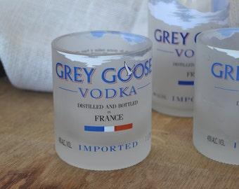 4 Grey Goose rocks glasses