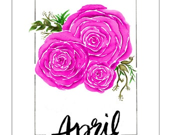 Customizable Botanical Watercolor print