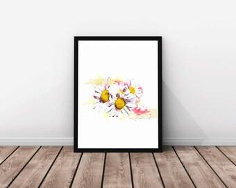 "Print ""Charlevoix's Daisies"" / Large sizes / Art print / Wall art / Feminine"