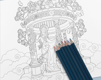 Fairy Coloring Page - High resolution instant download!