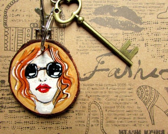 Watercolour Redhead ,Extraordinary,unique,fashion gadget for every woman in every age,love gift for fashionista