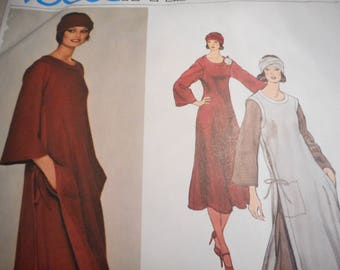 Vintage 1970's Vogue 1379 Sonia Rykiel Paris Original Dress, Tunic and Scarf Sewing Pattern Size 10 Bust 32.5