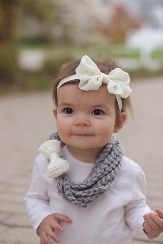 Baby Scarf With Bow Toddler Scarf Chain Loop Scarf Chain
