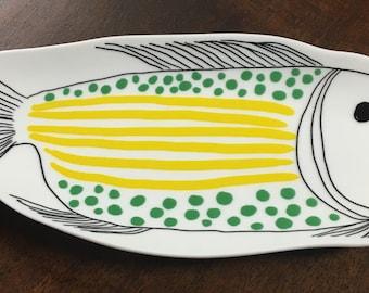 Porcelain fish dish. at Casa Suarez