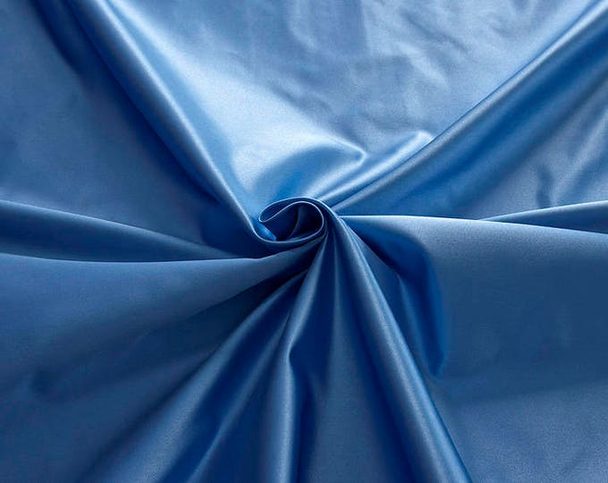 876144-Satin Natural silk 100%, width 135/140 cm, made in Italy, dry cleaning, weight 190 gr