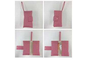 Nappy Wallet - Pink Chevron