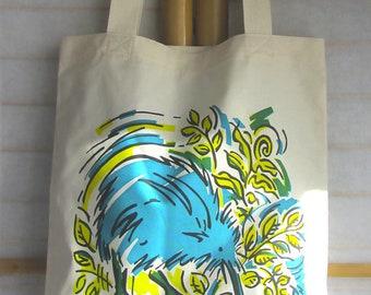 Kool Kiwi Eco Tote Bag - Blue & Green