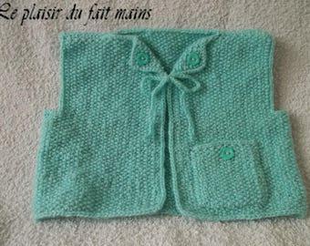 Baby - sleeveless - light green Cardigan
