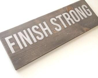Medal holder, award board, running decor, wood sign, marathon, finish strong