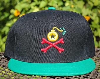 Stangl Bomb Rasta Logo Snapback Hat