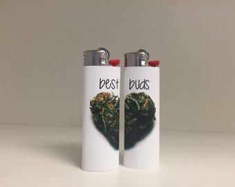 Best Buds Lighter Set ( 2 lighters) Custom Lighter