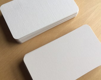 x25 Wedding Flat Place Cards/Name Cards Blank or Handwritten in Calligraphy - Available in cream, white, ivory, textured, smooth etc