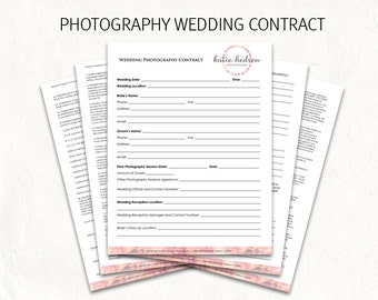 Wedding Photography Contract Template - sarahepps.com -