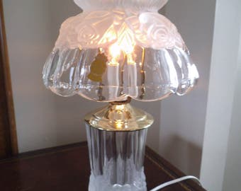 Handcut Lead Crystal Accent/Bedside Lamp - From Germany