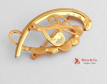 SaLe! sALe! Ornate Monogram L Brooch 18 K Gold