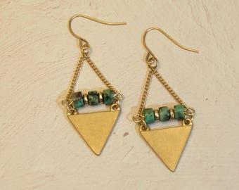 boho gold earrings