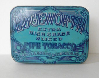 Vintage Edgeworth Blue Pipe Tobacco Can
