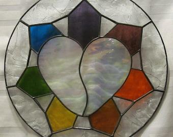 Broken Heart Stained Glass Suncatcher