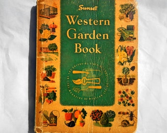 Sunset Western Garden Book First Edition March 1954 Vintage Reference Book