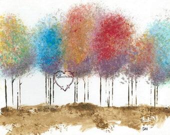 Print Name: Falling Leaves! Digital Download, Instant Download, Printable Fall Art, Hardwood Bush, Falling Leaves, Wooded Trail, Fall,
