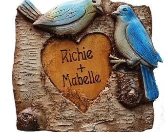 Blue Birds Personalized  Love Plaque