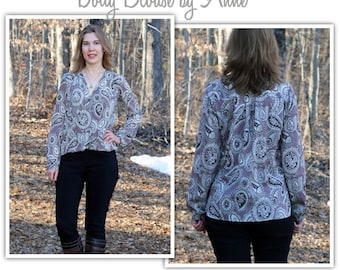 Women's Sewing Pattern - Dotty Blouse - Sizes 10, 12, 14 - Blouse Top Shirt Sewing Pattern by Style Arc