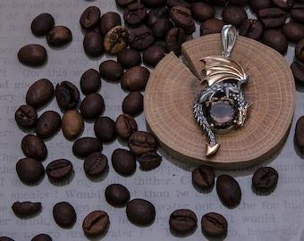 Large Dragon pendant Dragon necklace Sterling silver, Fantasy necklace, Fantasy pendant, Fantasy Jewelry
