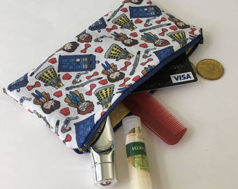 Doctor Who pencil case - Doctor Who pouch - Doctor Who zipper pouch - Doctor Who carry all - Geeky gift - Doctor Who Gift