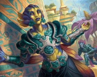 Jungleborn Pioneer Print of Magic: The Gathering Illustration by Scott Murphy