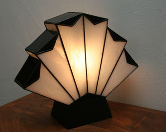 """Art Deco lamp Tiffany stained glass Tiffany, table lamp """"Flabellum"""" 1929"""