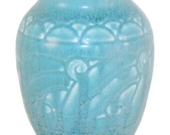 Rookwood Pottery 1926 Matte Blue Art Deco Vase 2854
