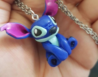 Lilo and Stitch inspired necklace Stitch varied length chain Disney