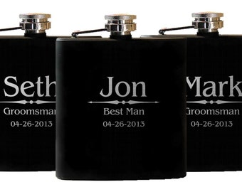 Wedding Gift Groomsmen, Custom Flask, Personalized Groomsmen Gift, Groomsman Flask, Wedding Party Flasks, Personalized Flask, Gift for Dad