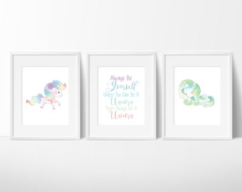 Unicorn Print, Unicorn Wall Decor, Unicorn Room Decor, Unicorn Birthday
