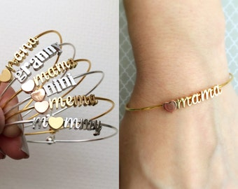 Mama Bracelet - Build Your Own, Personalized Charm Bracelet, Mothers Day Gift, Mum Gift, Gift for Her, Personalized Initial Charms, Mom Gift
