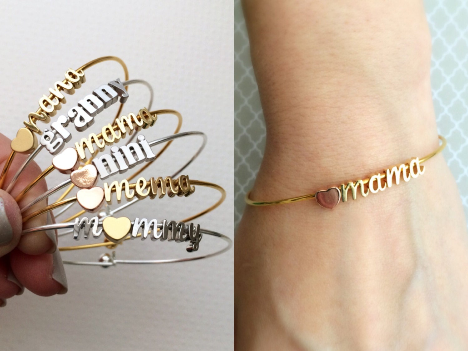 family childrens mothers s grandmother with name bracelet personalized grandma bangles grandmas bracelets for bangle names