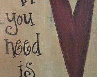 All You Need is Love Wall Hanger