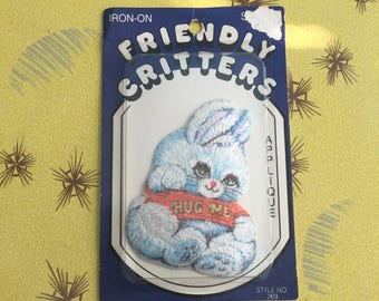 Vintage Bunny Iron-on Patch