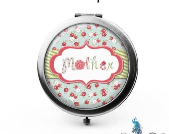 Compact Mirror Mother Shabby Roses Gifts Cosmetic Mirror Custom Favors Birthdays