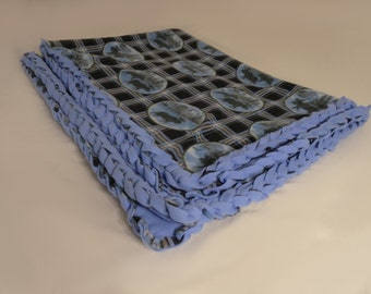 Blue Moose Braided Fleece Blanket