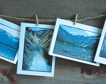 US National Parks Photo Note Cards/ Inspirational Cards/ Set of 4/ Glacier/ Grand Tetons/ Yellowstone/ Yosemite Cards/ Inspirational Gift