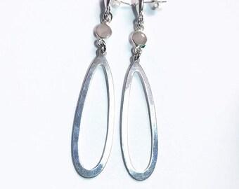 Sterling Silver & Rose Quartz Dangling Earrings