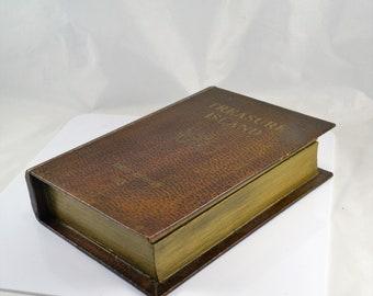 Book Box - Treasure Island Secret Stash Box - Jewelry Box - Dresser Keepsake Box - Hollow